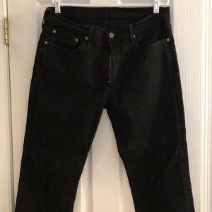 Levi's 514 36x32 black jeans